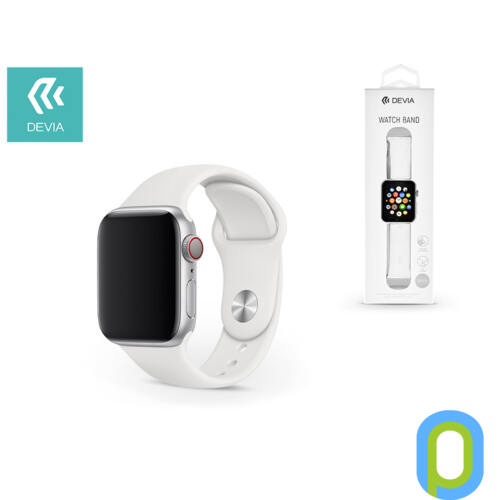 Apple Watch lyukacsos sport szíj - Devia Deluxe Series Sport Band - 38/40 mm - white