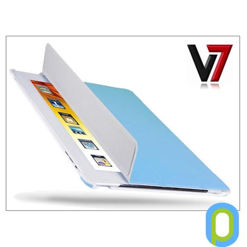 Apple iPad2/iPad3/iPad4 tok - V7 Ultra Slim Folio Stand - világos kék